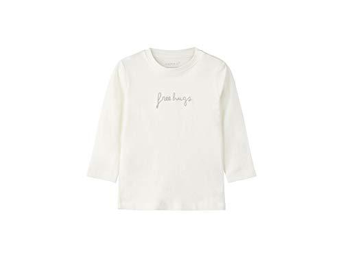 Name IT NOS NAME IT NOS Unisex Baby Sweatshirt NBNDELINUS LS TOP, Weiß (Snow White), (Herstellergröße: 56)