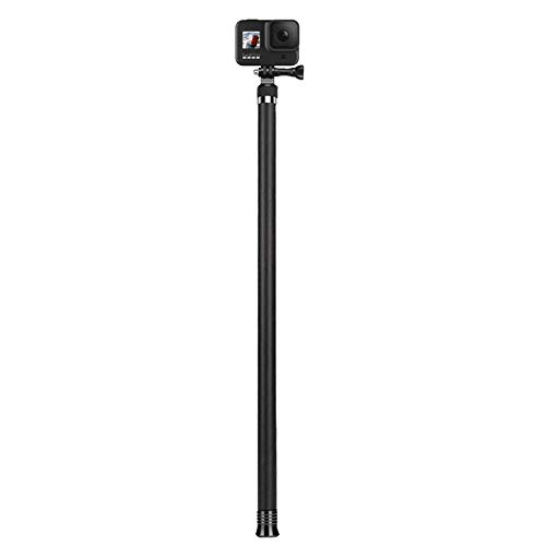 "AFAITH 106"" Long Carbon Fiber Handheld GoPro Selfie Stick Extendable Pole Monopod for GoPro Hero 9 Hero8 Hero7 Hero 6 Hero 5 Black, DJI OSMO Action Camera, Insta 360 Cam & Other Action Cameras"
