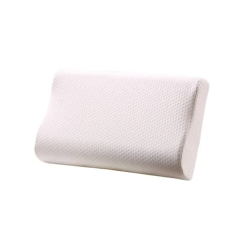 Almohada de espuma viscoelástica de contorno de dos piezas,Almohada ortopédica cervical para el cuello del sueño profundo,Soporte suave y almohadas hipoalergénicas lavables
