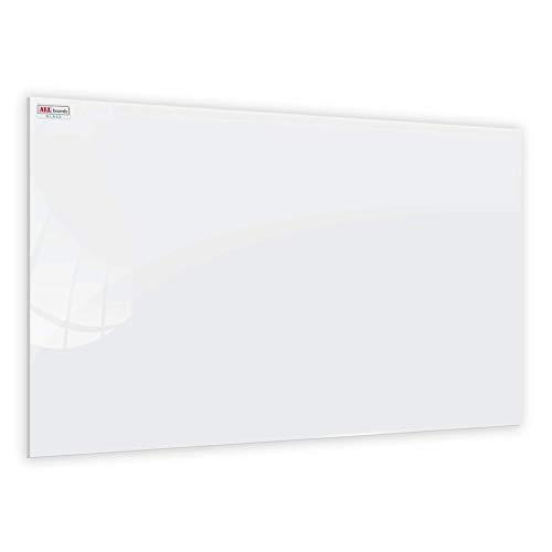 ALLboards Glasboard Magnetisch Perlweiß 60x40cm, Rahmenlos, Glastafel, Magnettafel, Gehärtetes Glas