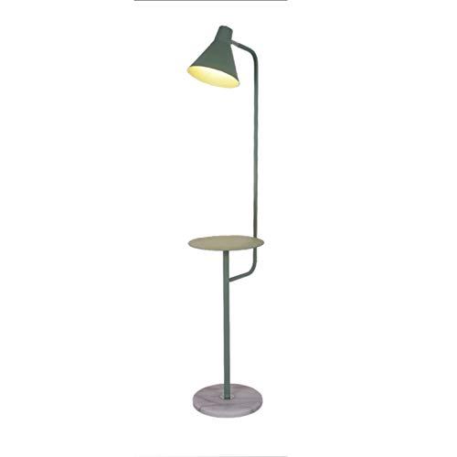 Lámparas de pie para salón Control táctil para la lámpara de viva con estantes Lámpara de pie de esquina Moderna Minimalista Decoración Dimmable Sala de estar Dormitorio Base de círculo (verde) Lámpar