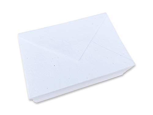 Handgemachte pflanzbare Blumensamen-Papierumschläge - 11 x 16cm - 25 Stück -Perfekt für Einladungskarten, Briefpapier, Postkarten oder Blumen Karten. - Dicke - 250 g/m²
