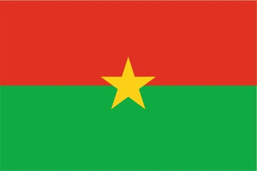 Kiwistar Autoaufkleber Sticker Fahne Flagge Aufkleber 10cm Burkina Faso laminiert sehr Lange Haltbar