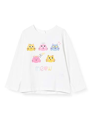 Chicco T-Shirt Manica Lunga Bimba Camiseta de Tirantes, Blanco (Bianco 033), 74 (Talla del Fabricante: 074) para Bebés