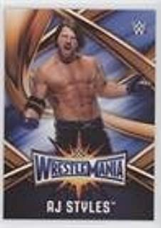 AJ Styles (Trading Card) 2017 Topps WWE Road to Wrestlemania - WrestleMania 33 Roster #WMR-19