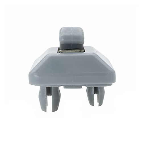 TINGRUI Ruiting Store 2pcs Car Sun Visor Clip Soporte Interior Sun Visor Hook Fit for Audi A1 A3 A4 A5 A7 Q3 Q5 B6 B7 B8 S4 S5 Gris 8E0857562A 8U0857562