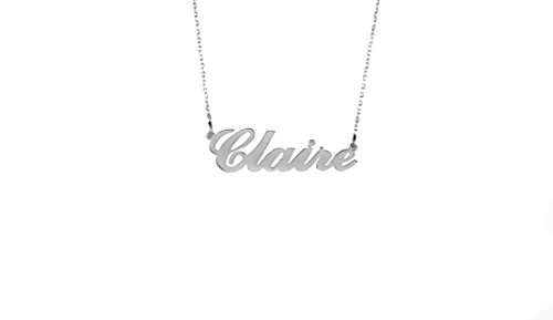 Personalised Carrie Style Name Necklace,925 Sterling Silver,Choose Any Name,Handmade (Sterling Silver, 20 IN)
