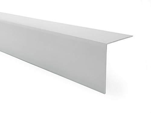 Quest PVC Winkelprofil Kunststoff Selbstklebend Kantenschutz Eckenschutz Eckleiste Winkelleiste, 30x30mm, 150cm, grau