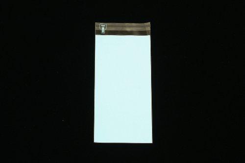 印刷透明封筒 長3 【20,000枚】 OPP 50μ(0.05mm) 表:ブルーベタ 切手/筆記可 静電気防止処理テープ付き 折線付き 横120×縦235+フタ30mm印刷可