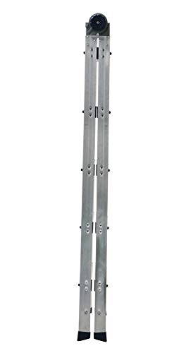 COSCO 2-in-1 Step and Extension Ladder, Tall Reach, Aluminum