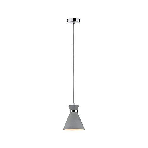 Paulmann 70890 Pendelleuchte Verve max. 20 Watt Hängelampe IP44 Spritzwassergeschützt Deckenlampe Beton, Metall E27
