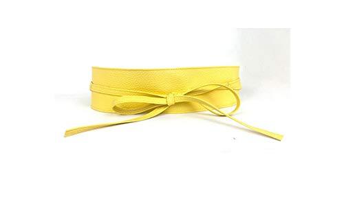 Vrouwen Riemen Brede Riem Zelf Tie Tailleband Riemen voor Vrouwen Bruidsjurk Taille Band Present-Gold-size