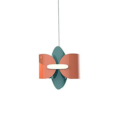 WEM Candelabro decorativo novedoso, lámpara colgante colorida de dibujos animados con diseño de hierro, accesorio de iluminación para techo, lámpara colgante con forma de mariposa, luces de suspensió