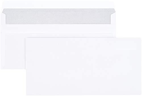 Amazon Basics - Briefumschlag, DL (110x220 mm), selbstklebend, Weiß, 75 g/m², 100 Stück