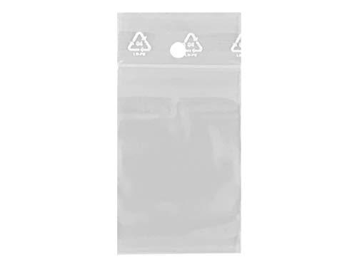 Lot 100 sachets à fermeture zip format 40 x 60 mm (4 x 6 cm) pochettes qualité alimentaire, prélèvement, aux normes européennes de production plastique - 50 microns