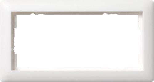 Gira Rahmen 2-fach ohne Mittelsteg ST55, reinweiß-seidenmatt, 100204