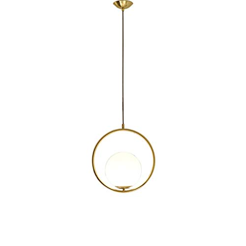 TB kroonluchter Amerikaanse creatieve eenvoudige bedlampje slaapkamer kunst ronde glazen bol eettafel koper hanglamp kroonluchter