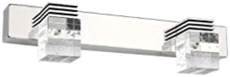 ALYR Spiegellampen FüR Das Bad LED-Spiegelfrontleuchte Modernes Kristalllicht für Schlafzimmer Spiegelleuchte,2 Lights