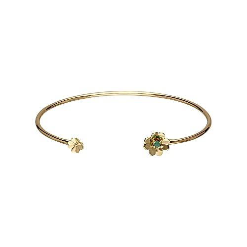 Gardenia - Brazalete de trébol esmeralda