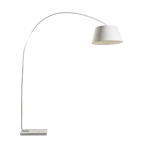 Lussiol 233564 Lampadario, Lampada da terra, Lettura Metallo, Bianco, L 160 x H 190 cm