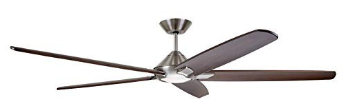 "Emerson CF515CO72BS 72"" Dorian Eco Ceiling Fan, Brushed Steel Ceiling Fans"