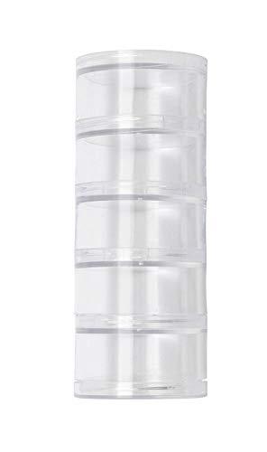 Glorex 5 2001 47 opbergdoos, sorteerdoos met 5 ronde vakken, van transparant kunststof, elk ca. 5 x 3 cm groot.