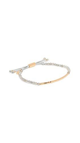 gorjana Labradorite Gold Power Gemstone Adjustable Strand Bracelet