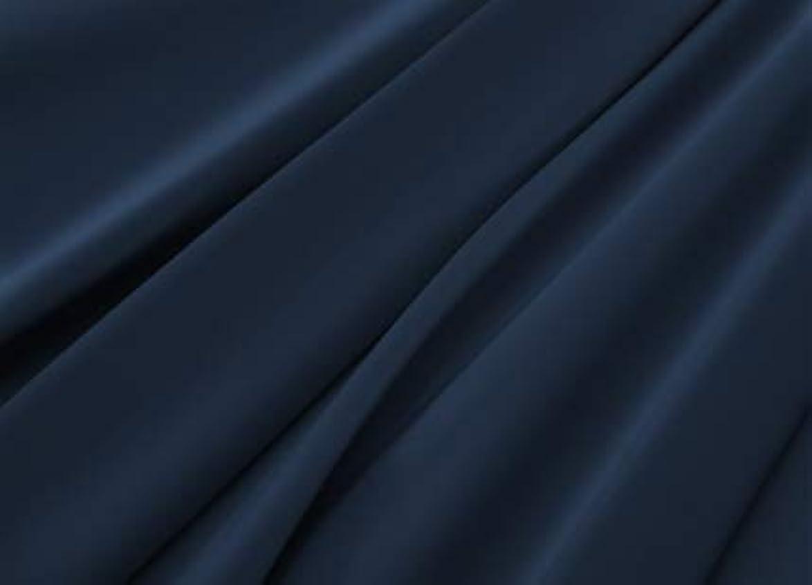 偽物ぬいぐるみ時計回りR.T. Home - エジプト高級超長綿ホテル品質 ボックスシーツ ワイドキング 200×200×37CM (シングル二台) サイズ(ボックス シーツ ワイドキング) 500スレッドカウント サテン織り ミッドナイト ネイビー 200*200*37CM