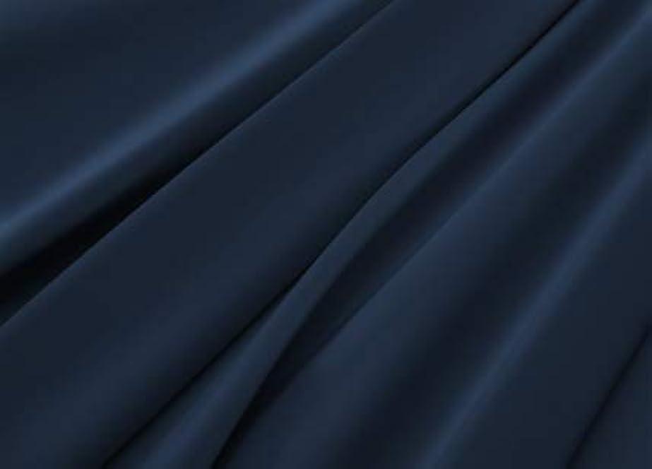 タンパク質ご意見歴史家R.T. Home - エジプト高級超長綿ホテル品質 ボックスシーツ ワイドキング 200×200×37CM (シングル二台) サイズ(ボックス シーツ ワイドキング) 500スレッドカウント サテン織り ミッドナイト ネイビー 200*200*37CM
