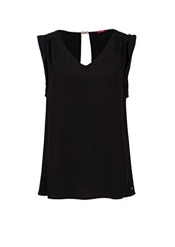 s.Oliver Damen 120.10.005.10.100.2038016 Bluse, Black, 34