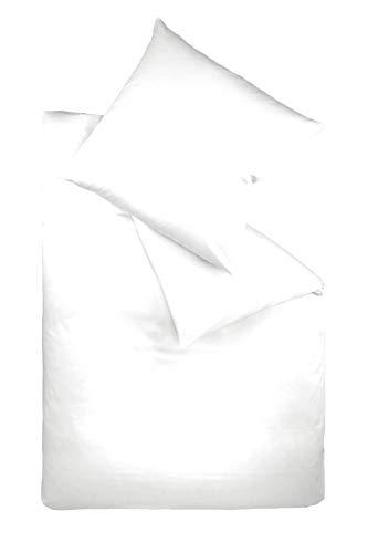 Fleuresse 9200 colours Interlock Jersey Bettwäsche aus 100{139c5cd44b267328a3d34a6ab9a6f30a2756e9618fea1185b85f4ddb6b198221} Baumwolle, Ökotex Standard 100, 135 x 200 cm, weiß