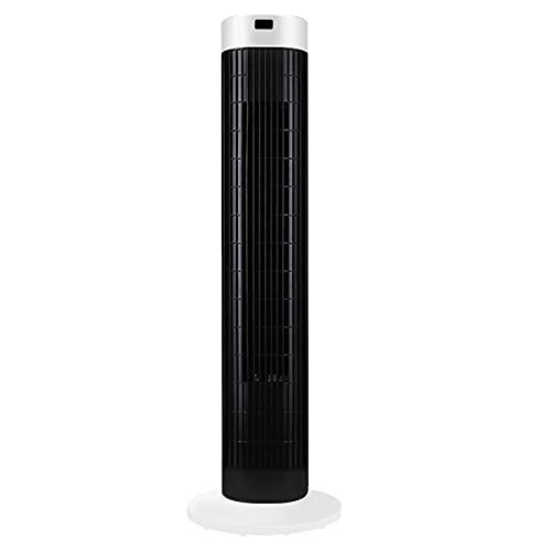 LARS360 Ventilador de Torre con Mando a Distancia y ángulo de Oscilación de 60°, Ventilador de Columna de 45W, Ventilador Portátil de Suelo con 3 Niveles de Velocidad, Función de Temporizador