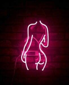 Amymami Beer Bar Beauty Back Butt Pole 14inx Mail order Sign Lamp Attention brand Neon Girl