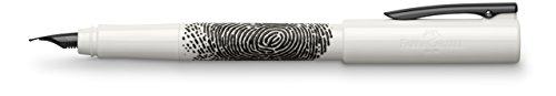 Faber-Castell 149341 - Füller WRITink Print, Feder F, weiß