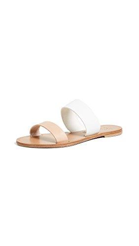 Joie Women's Sable Flat Sandal, White/Natural, 37.5 EU/7.5 M US