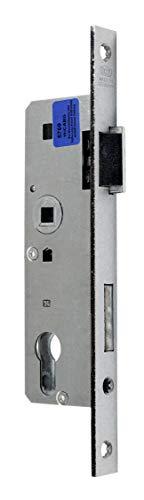 BKS Rohrrahmenschloss/Rahmenschloß 40/72/8, Stulpbreite: 20mm, DIN Rechts (schmale Bauweise) incl. SN-TEC® Montageset