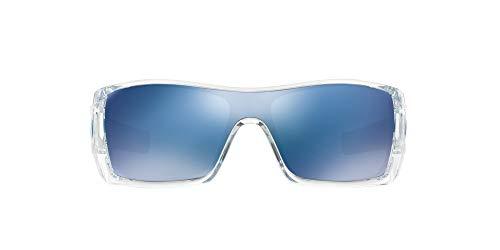Big Sale Oakley Men's Batwolf Rectangular Sunglasses,Clear Frame/Ice Iridium Lens,one size
