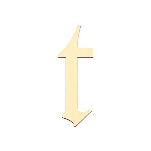 Bütic GmbH Sperrholz Buchstaben - Altdeutsch/LPZ - Wunschtext/Schriftzug mit Größenauswahl - Pappel 3mm, Größe:10cm, Buchstaben:kleines t