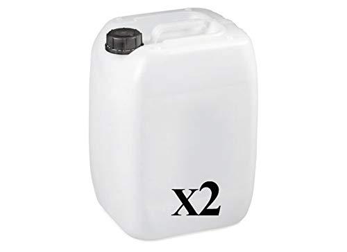 Bidon Plastique 20 litres - Filetage S60x6 - Empilable - homologué ADR idéal pour Les liquides, l'eau, l'essence et Les Produits Chimiques, réservoir pour climatisation/Camping/Camping-Car (1)… (2)