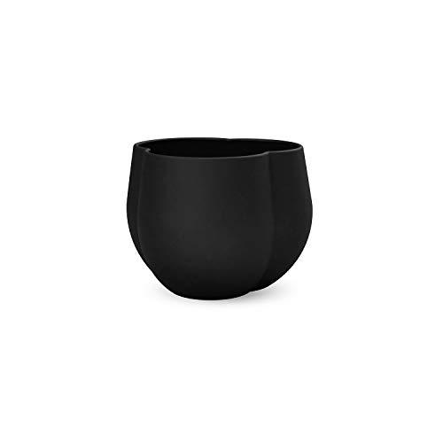 Cooee Design Clover Pot de Fleurs en céramique Noir 12 cm