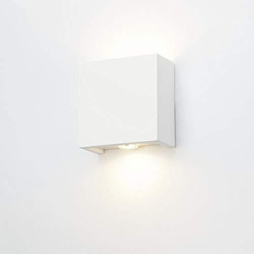 Applique murale Plâtre LED Jean Cube Lampe Intérieur carré carré blanc céramique murale UP DOWN recouvrable