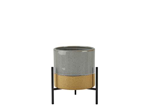 Villa Collection keramische vaas met standaard, Ø 18 x 26 cm