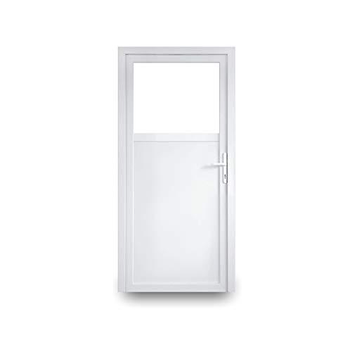 EcoLine Nebentür - Nebeneingangstür - Tür - 2-Fach, 1/3 Glas, 2/3 Füllung, außenöffnend innen weiß/außen: weiß BxH: 900 x 1900 mm DIN Links