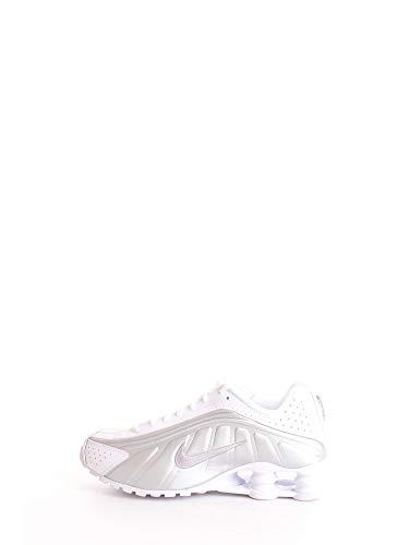Nike Shox R4 (GS), Zapatillas de Atletismo Hombre, Multicolor (White/Metallic Silver/Metallic Silver 000), 38.5 EU