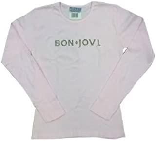 BON JOVI ボン・ジョヴィ (デビュー35周年記念) - Pink Girl Longsleeve - Logo/バックプリントあり/長袖/Tシャツ/レディース 【公式/オフィシャル】