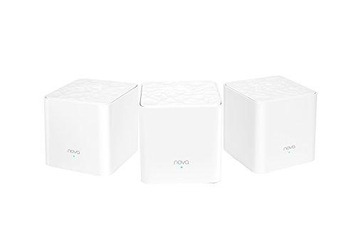 Tenda Nova Mw6 - Router Sistema WiFi De Red para El Hogar (Pack de 3, Banda Dual Cobertura hasta 500 m2, Mu-Mimo, Control Parental, Funciona con Alexa Nova Whole Home Mesh Route)