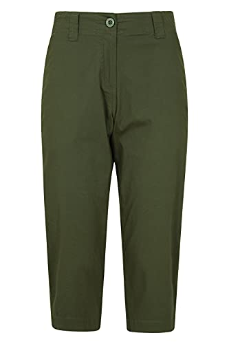 Mountain Warehouse Coastal Stretch Womens Trousers - Regular Length, Lots of Pockets, Breathable, Lightweight Ladies Pants -Best for Walking, Hiking, Outdoors & Trekking Caqui 38