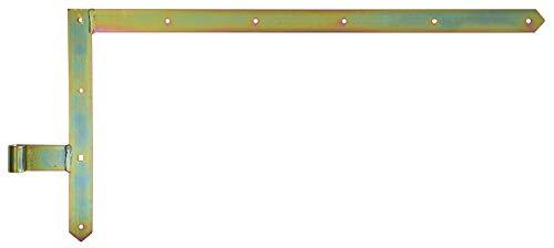 GAH-Alberts 313128 Tor-Winkelband, gerade, Abschluss spitz, oben, galvanisch gelb verzinkt, Rolle: Ø16 mm / 400 x 800 mm