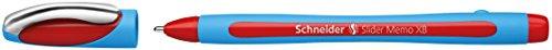 Schneider Slider Memo XB Kugelschreiber (mit Kappe, Strichstärke: XB) rot