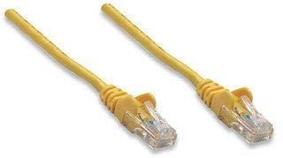 Intellinet - Cable de red (1 m, conectores chapados en oro, CCA (aluminio revestido), U/UTP (cable sin apantallamiento/par trenzado sin apantallamiento), PVC, RJ45 macho a RJ45 macho, contactos chapados en oro, sin enganches